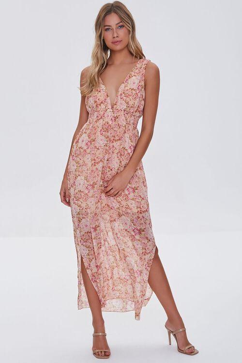 Floral Print Maxi Dress, image 1