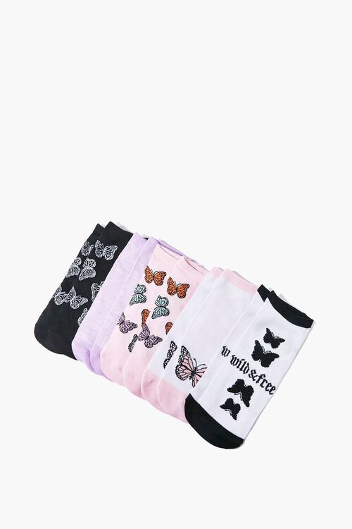 Butterfly Ankle Socks Set - 5 pack, image 2