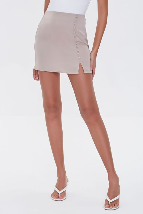 Button-Front Mini Skirt, image 2
