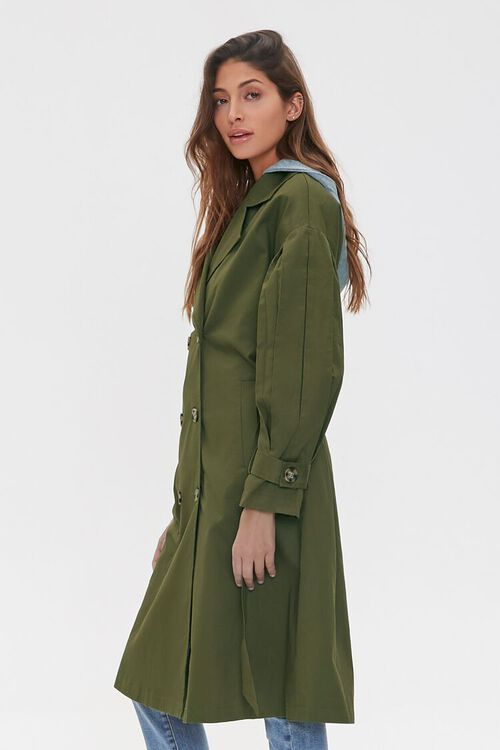 Hooded Double-Breasted Trench Coat, image 3