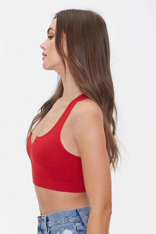 Seamless Split-Neck Bralette, image 2