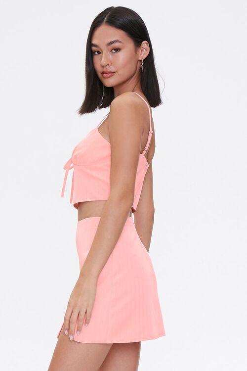BLUSH/WHITE Sweetheart Cami & Mini Skirt Set, image 2