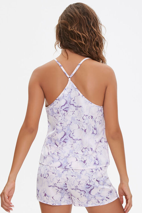 PINK/MULTI Marble Print Cami & Shorts Pajama Set, image 3