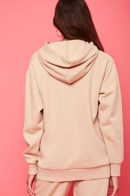 TAN/MULTI Juicy Couture Rhinestone Fleece Hoodie, image 3