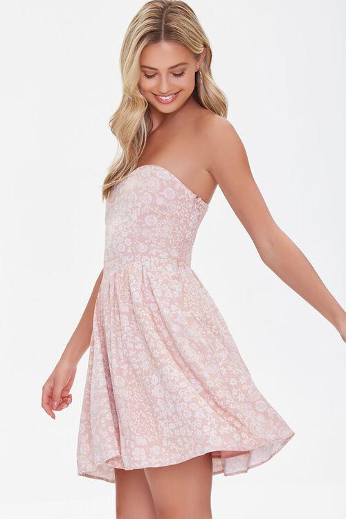 Floral Print Sweetheart Dress, image 2