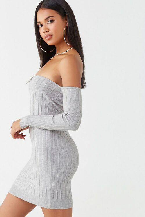 Ribbed Off-the-Shoulder Mini Dress, image 2