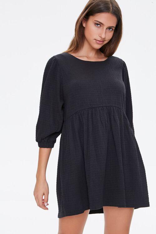 Textured Knit Mini Dress, image 2