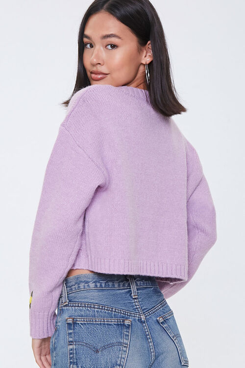 Floral Cable Knit Cardigan, image 3