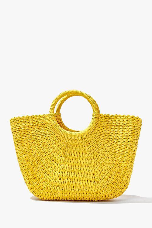 Straw Basketwoven Tote Bag, image 1