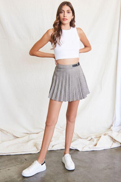 BLACK/MULTI Pleated Plaid Mini Skirt, image 5