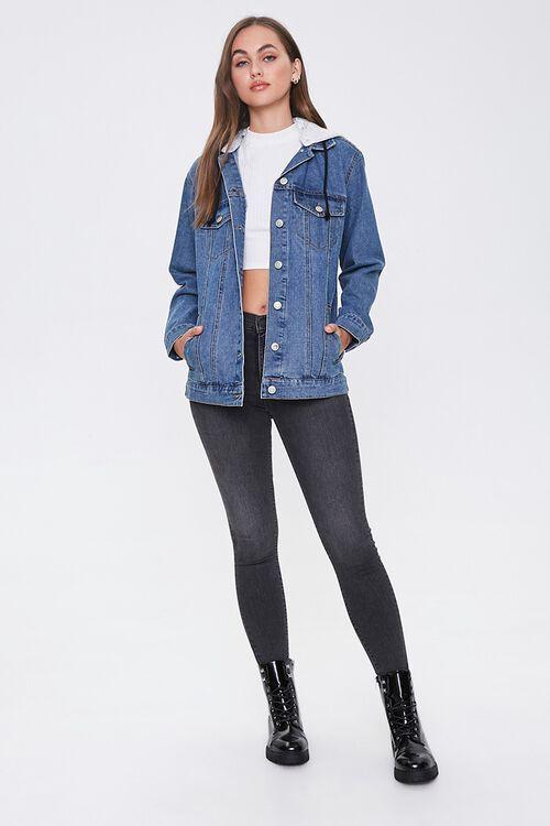Hooded Denim Utility Jacket, image 4