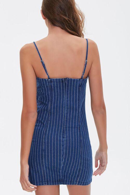 Pinstriped Denim Mini Dress, image 3