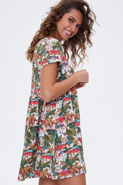 Tropical Town Print Dress, image 2