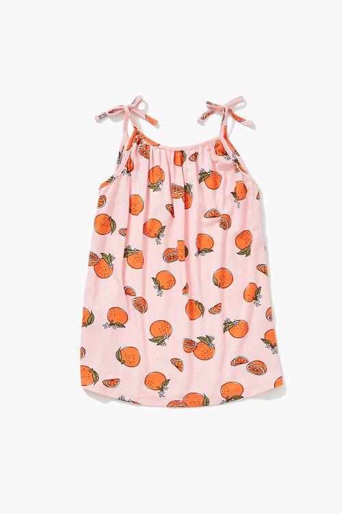 Girls Orange Print Cami (Kids), image 2