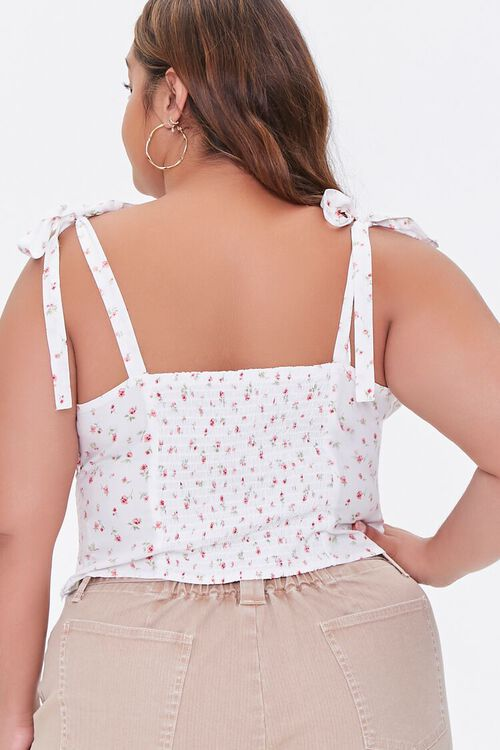 Plus Size Floral Sweetheart Top, image 3