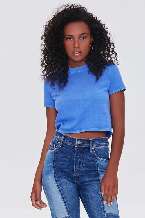 Cropped Mineral Wash Tee, image 1