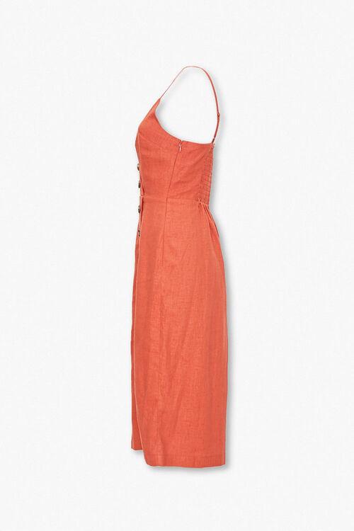 Linen-Blend Surplice Cami Dress, image 2