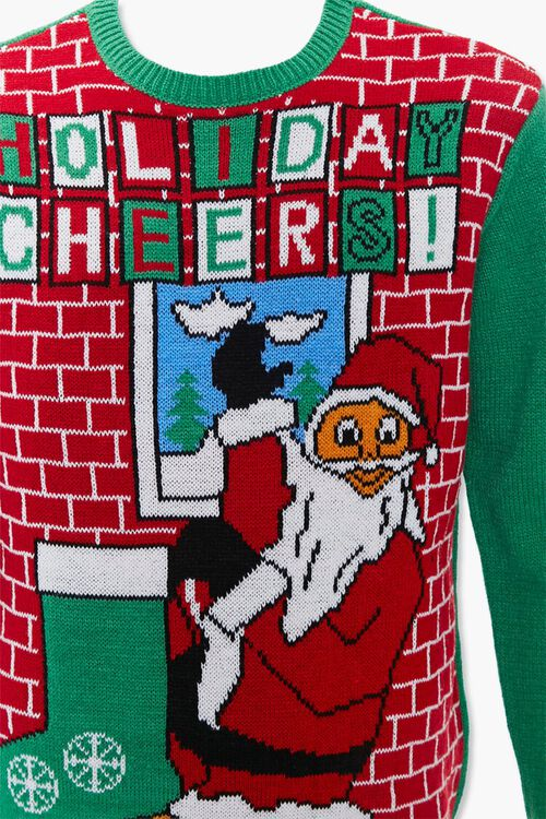 Holiday Cheers Graphic Knit Sweater, image 4