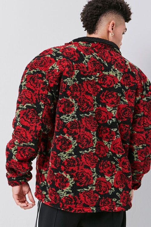 Faux Shearling Rose Print Jacket, image 3