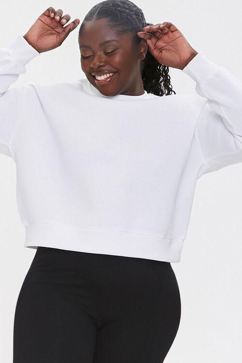 Plus Size Fleece Sweatshirt, image 1
