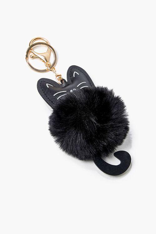 Cat Pom Pom Keychain, image 1
