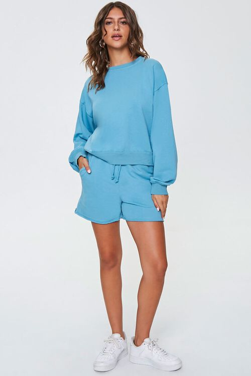 TEAL Crew Pullover & Shorts Set, image 4