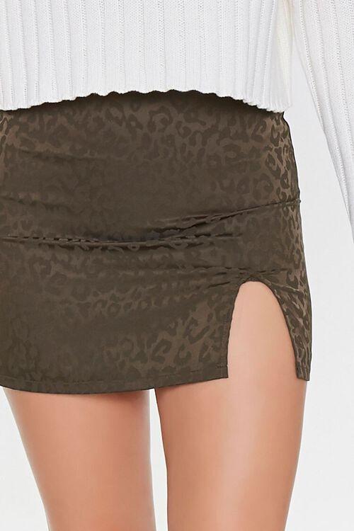 Leopard Print Mini Skirt, image 5