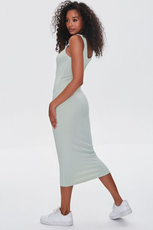 SAGE Ribbed Bodycon Midi Dress, image 2