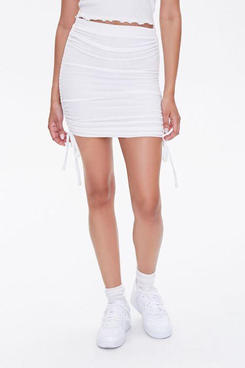 Ruched Drawstring Mini Skirt, image 2