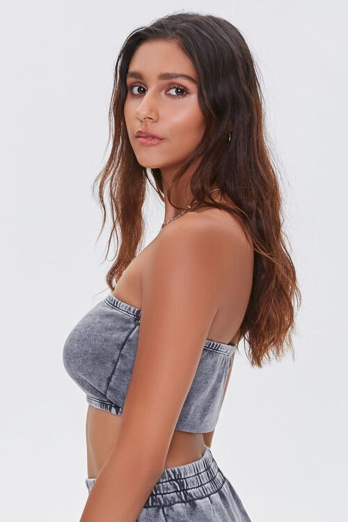 CHARCOAL Oil Wash Cropped Tube Top, image 3