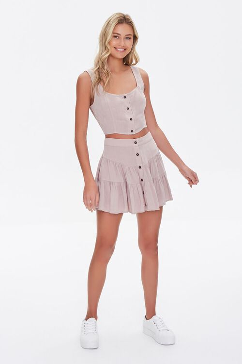 Cropped Button-Front Tank Top, image 4