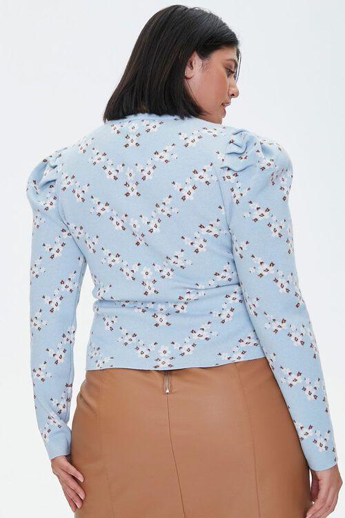 Plus Size Floral Print Sweater, image 3