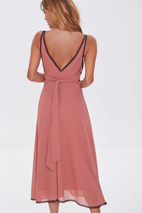 Chiffon Lace-Trim Dress, image 4