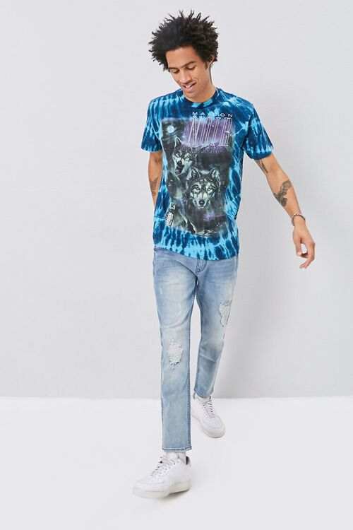 Tie-Dye Wolf Graphic Tee, image 4
