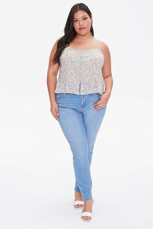 Plus Size Floral Buttoned Cami, image 4