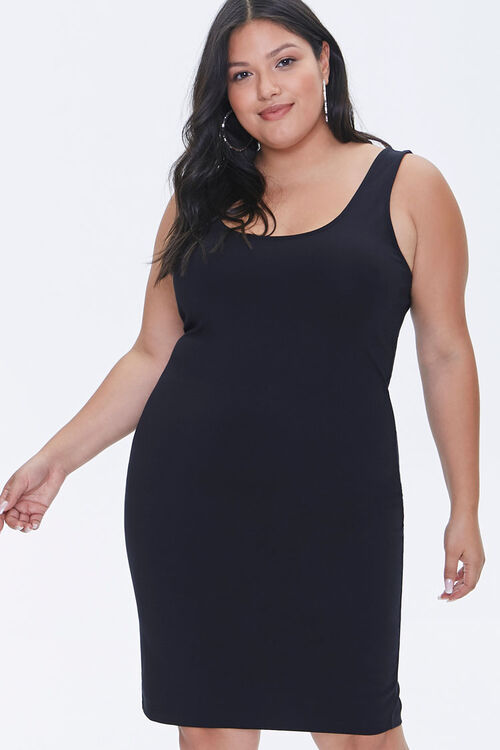 Plus Size Bodycon Mini Dress, image 1