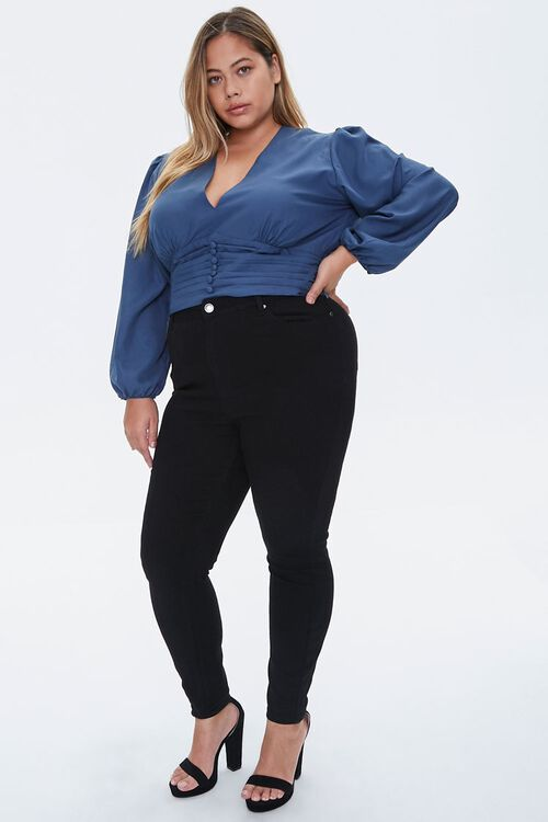Plus Size Pintucked Crepe Top, image 4