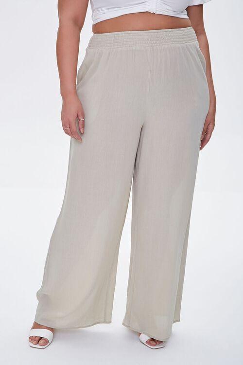 Plus Size Wide-Leg Pants, image 2