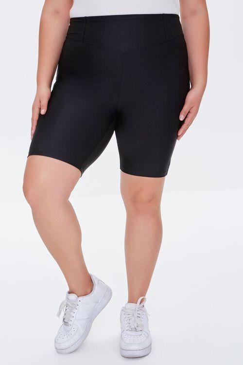 Plus Size High-Rise Biker Shorts, image 2