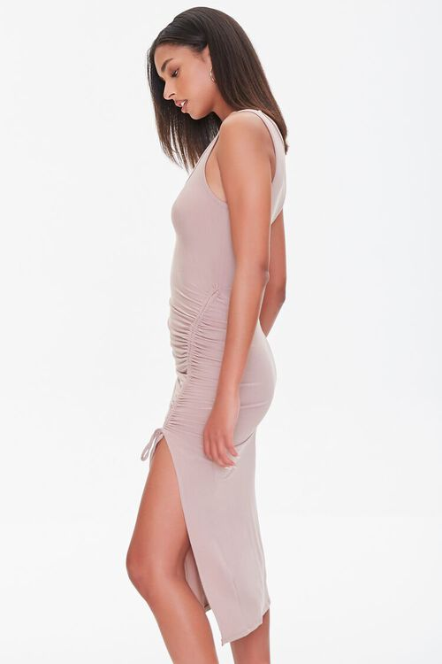 Ruched Drawstring Midi Dress, image 2