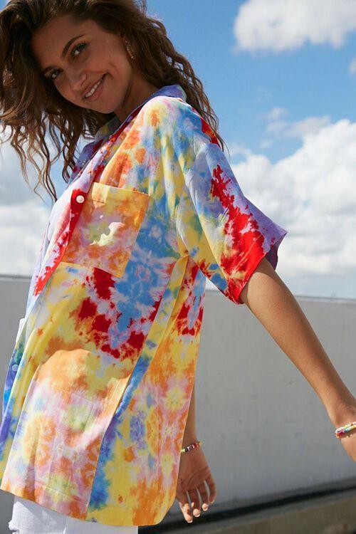 BLUE/MULTI Tie-Dye Longline Shirt, image 2