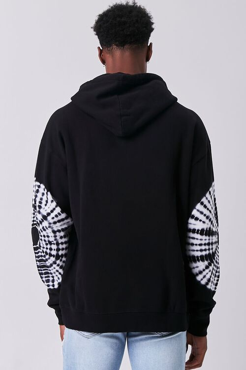 BLACK/WHITE Tie-Dye Drawstring Hoodie, image 3