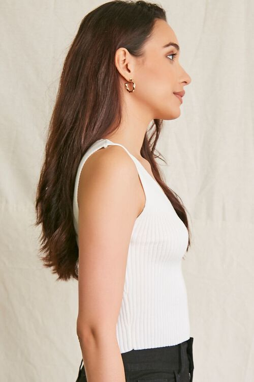 CREAM Ribbed Sweater-Knit Tank Top, image 2