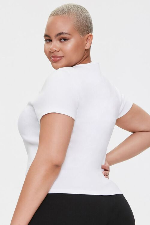 Plus Size Lace-Up Tee, image 3
