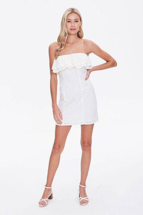 CREAM Eyelet Flounce Mini Dress, image 4
