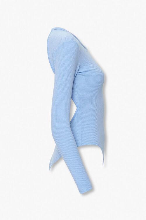 Ribbed Open-Back Bodysuit, image 2