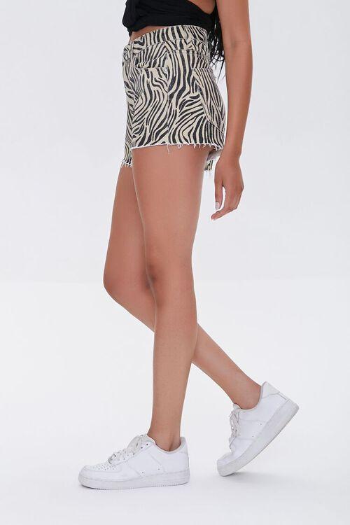 Tiger Striped Denim Shorts, image 3