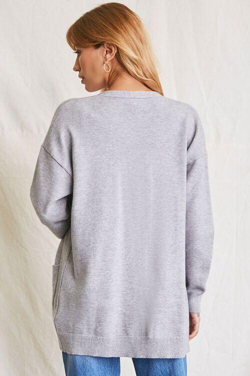 HEATHER GREY Patch-Pocket Cardigan Sweater, image 3