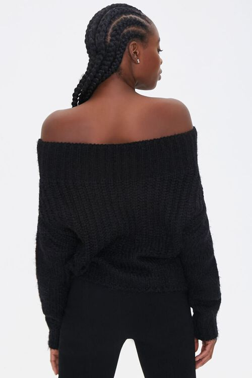Fuzzy Knit Off-the-Shoulder Sweater, image 3