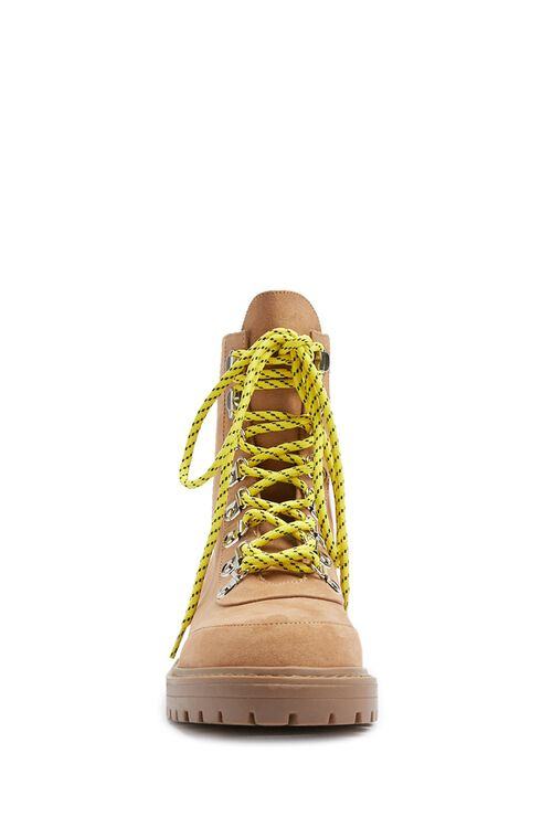 Contrast Lace-Up Hiking Boots, image 3